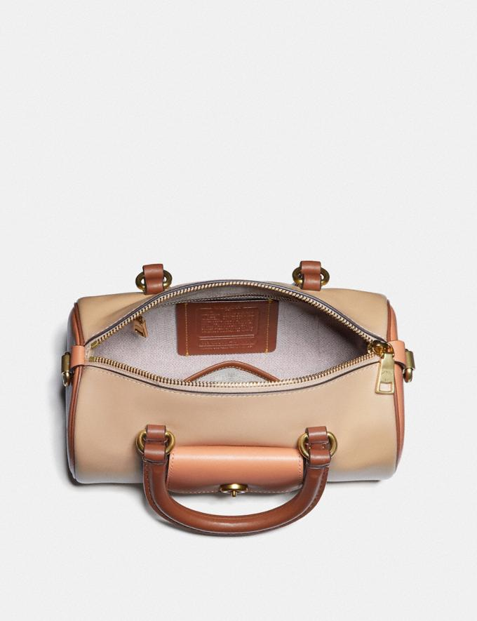 Coach Barrel Bag in Colorblock Brass/Sunrise Multi Women Handbags Crossbody Bags Alternate View 2