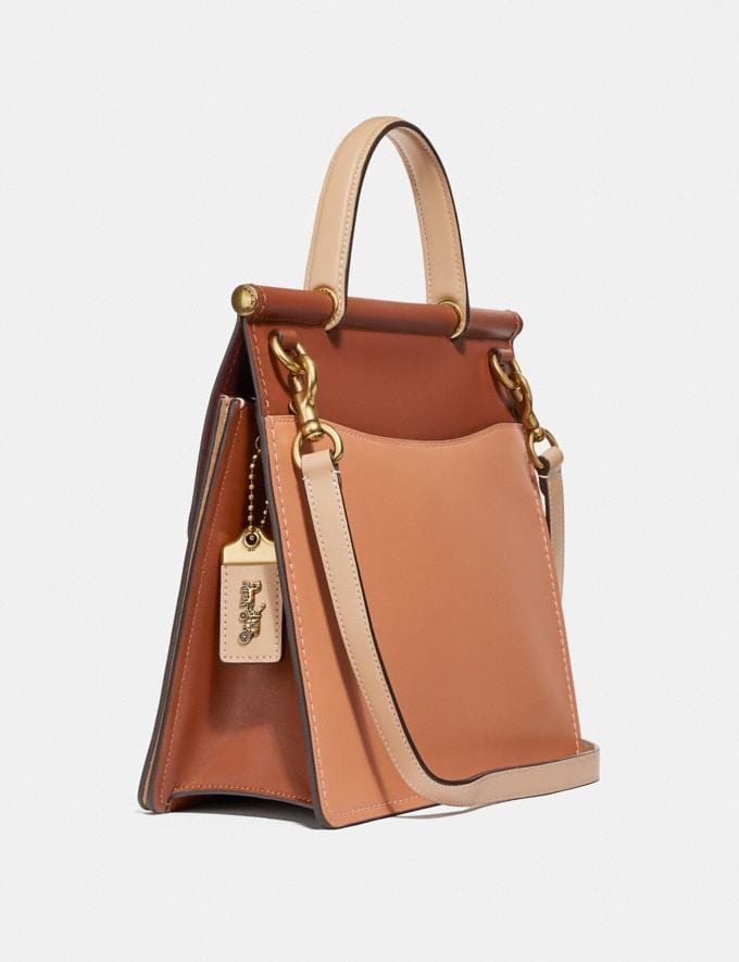 Coach Willis Top Handle in Colorblock Brass/Sunrise Multi New Women's New Arrivals View All Alternate View 1