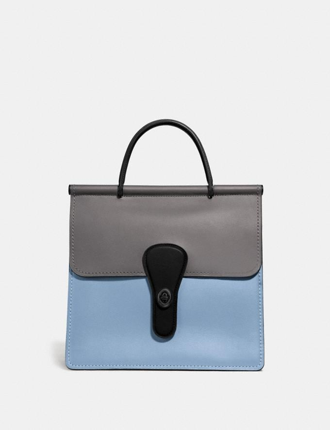 Coach Willis Top Handle in Colorblock Pewter/Cornflower Multi New Women's New Arrivals View All