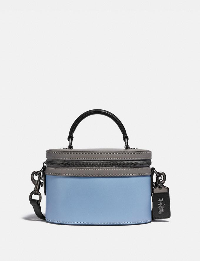 Coach Trail Bag in Colorblock Pewter/Cornflower Multi Women Handbags Crossbody Bags