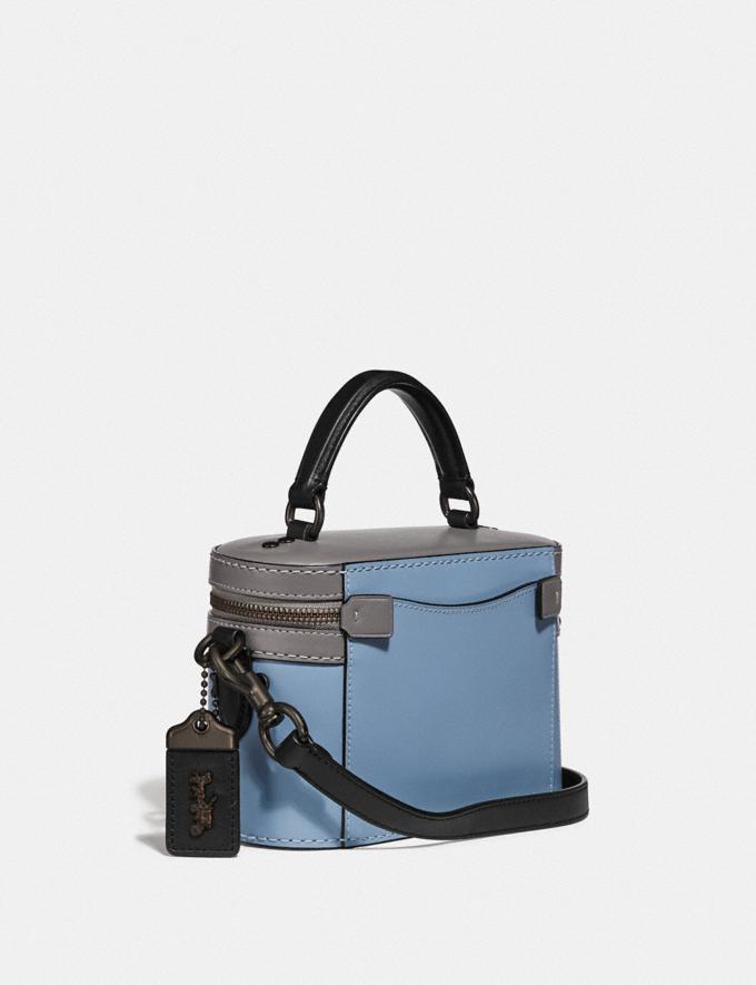 Coach Trail Bag in Colorblock Pewter/Cornflower Multi Women Handbags Crossbody Bags Alternate View 1
