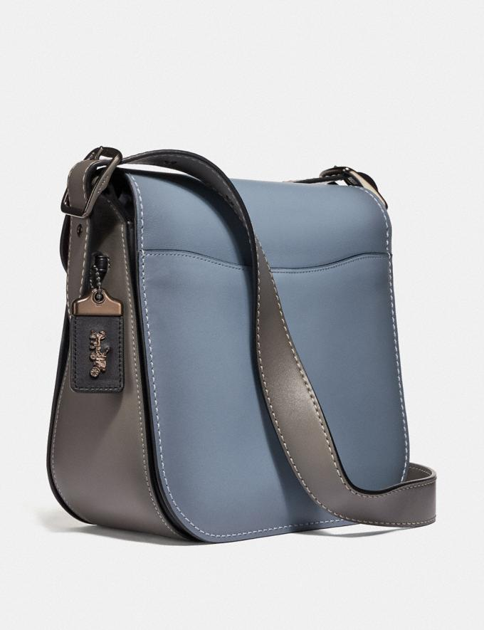 Coach Courier Bag in Colorblock Pewter/Cornflower Multi Women Handbags Crossbody Bags Alternate View 1