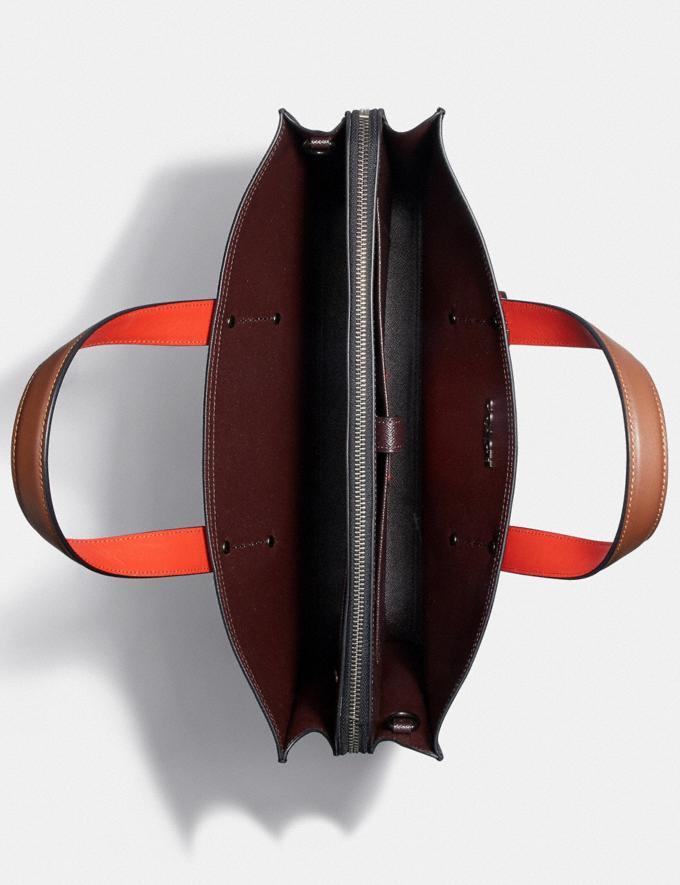Coach Charlie Brief in Colorblock Black Copper/Black Multi New Men's New Arrivals Bags Alternate View 2