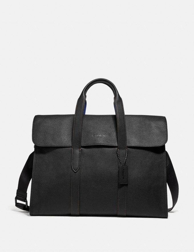 Coach Metropolitan Portfolio in Colorblock Black Copper/Black/ Sport Blue Men Bags Briefcases