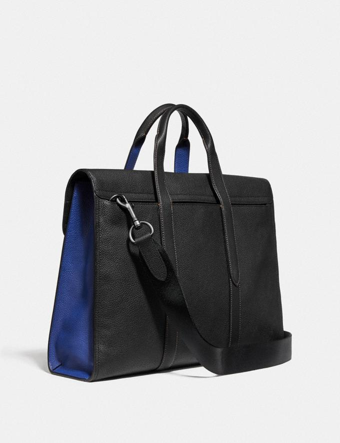 Coach Metropolitan Portfolio in Colorblock Black Copper/Black/ Sport Blue Cyber Monday Men's Cyber Monday Sale Bags Alternate View 1