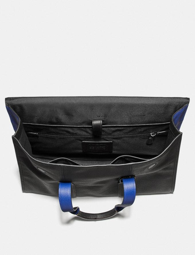 Coach Metropolitan Portfolio in Colorblock Black Copper/Black/ Sport Blue Cyber Monday Men's Cyber Monday Sale Bags Alternate View 2