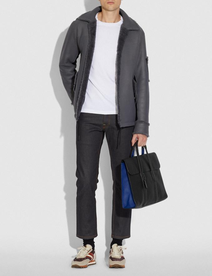 Coach Metropolitan Portfolio in Colorblock Black Copper/Black/ Sport Blue Cyber Monday Men's Cyber Monday Sale Bags Alternate View 3