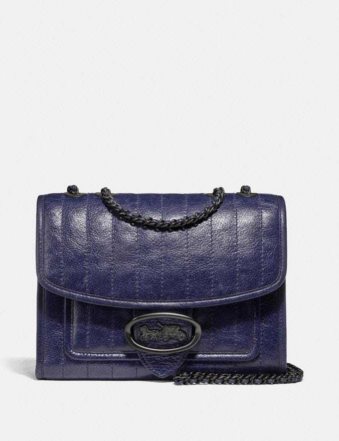 Coach Melody Shoulder Bag With Quilting Pewter/Cadet Gifts For Her Under $500
