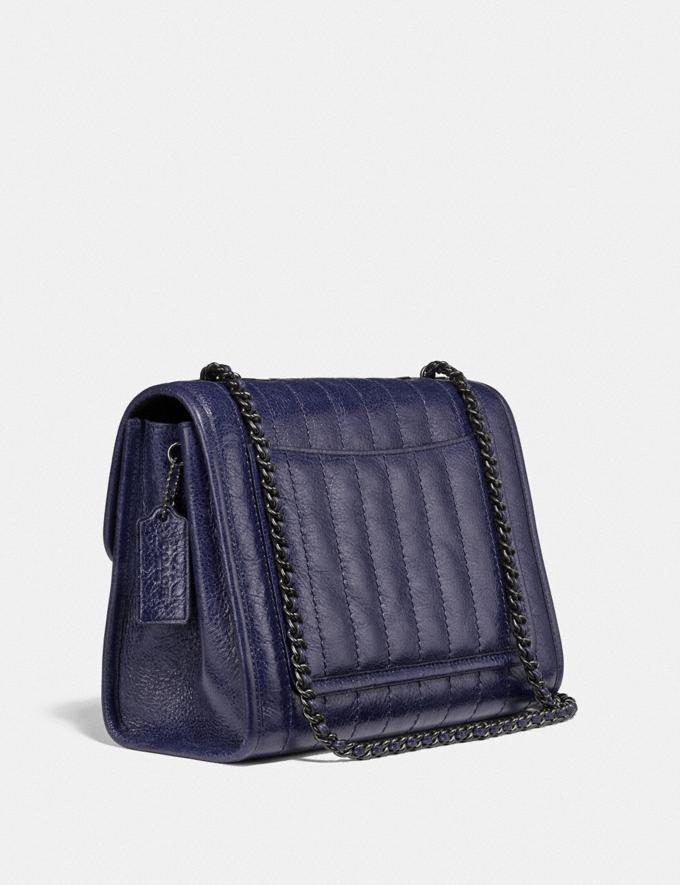 Coach Melody Shoulder Bag With Quilting Pewter/Cadet Gifts For Her Under $500 Alternate View 1