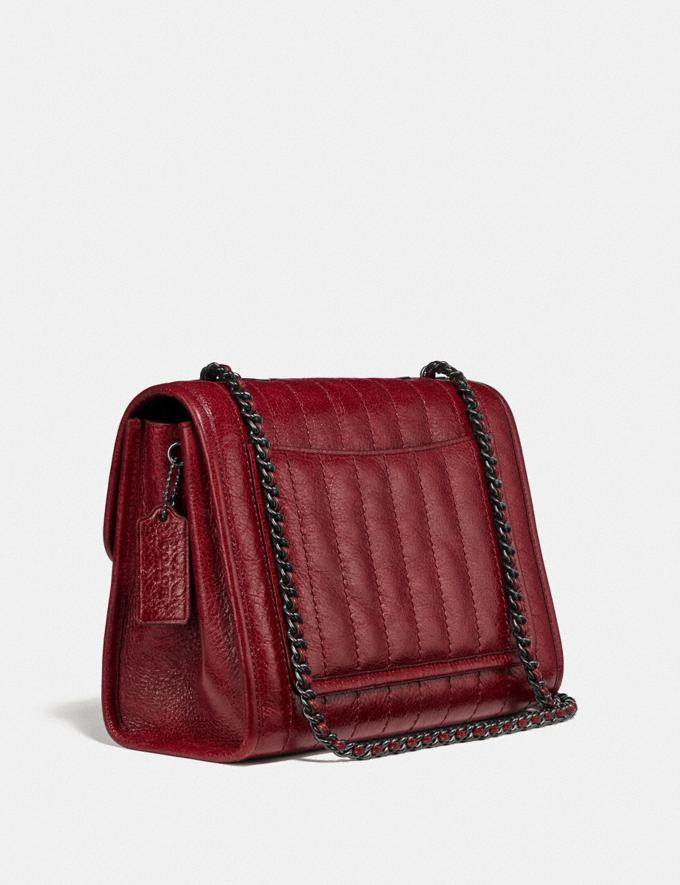 Coach Melody Shoulder Bag With Quilting Pewter/Deep Red  Alternate View 1