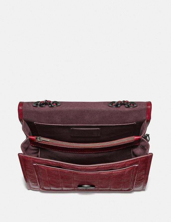 Coach Melody Shoulder Bag With Quilting Pewter/Deep Red  Alternate View 2