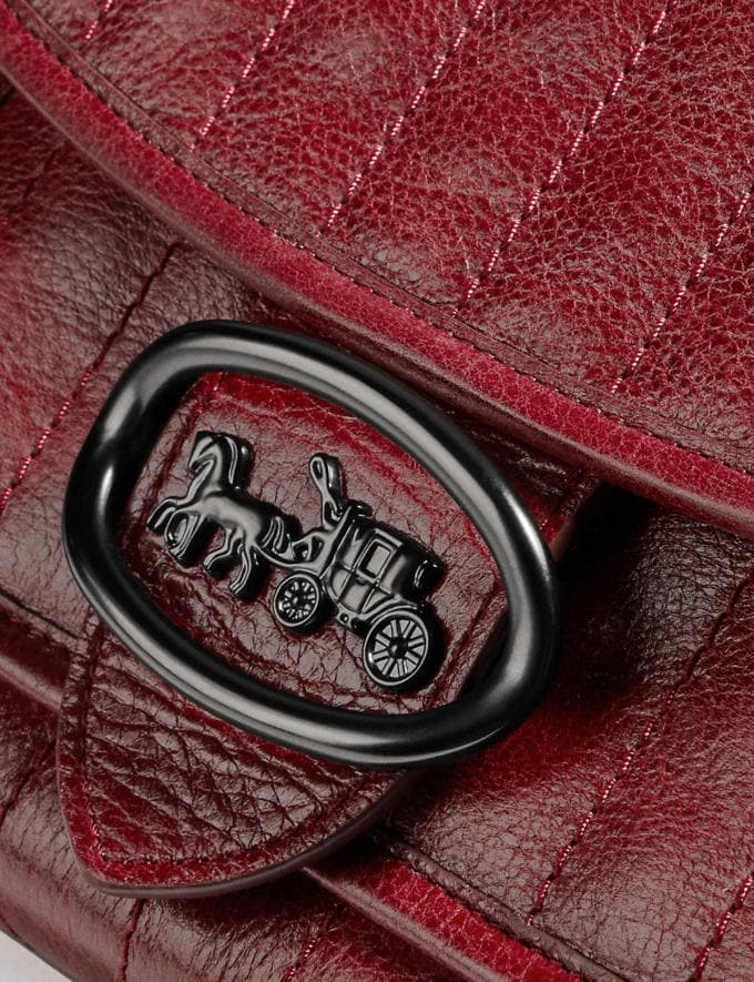 Coach Melody Shoulder Bag With Quilting Pewter/Deep Red  Alternate View 4