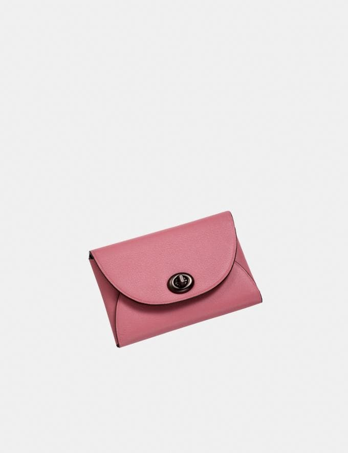 Coach Complimentary Card Case Pewter/True Pink SALE Shop by Price Under £150