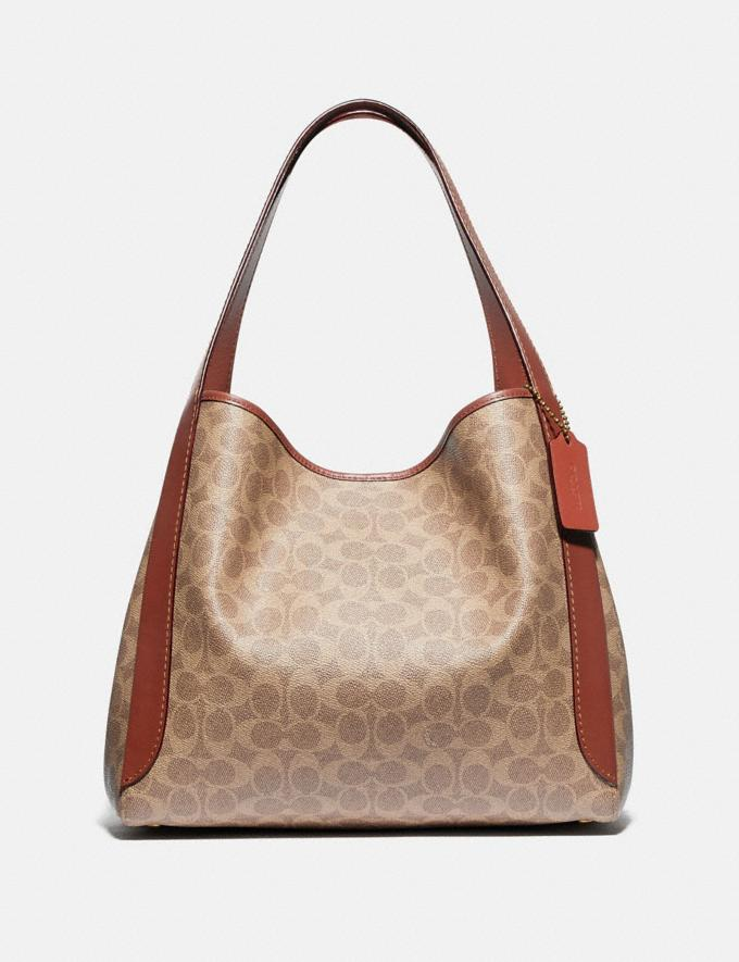 Coach Hadley Hobo in Signature Canvas Brass/Tan Rust New Featured Signature Styles