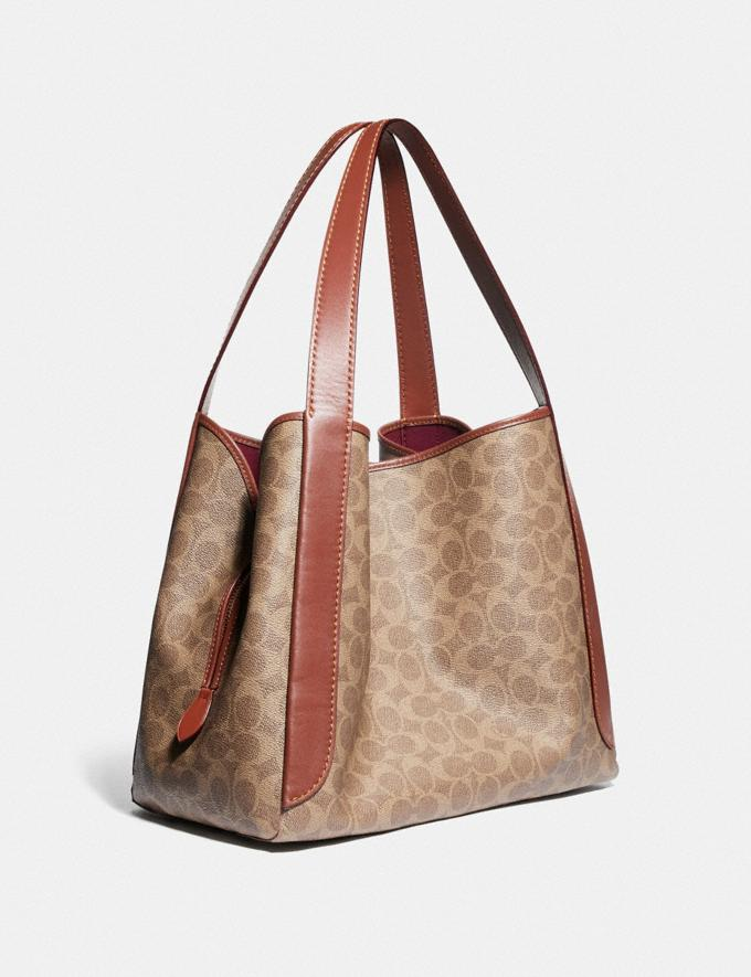 Coach Hadley Hobo in Signature Canvas Brass/Tan Rust New Featured Signature Styles Alternate View 1