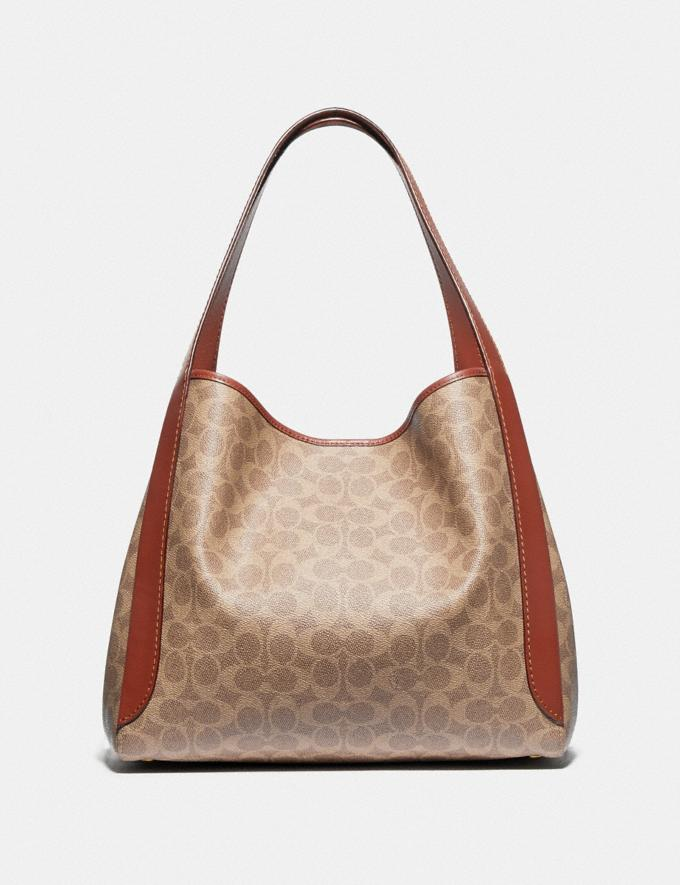 Coach Hadley Hobo in Signature Canvas Brass/Tan Rust New Featured Signature Styles Alternate View 2