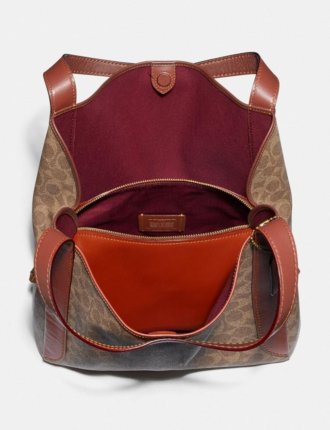 Coach Hadley Hobo in Signature Canvas Brass/Tan Rust New Featured Signature Styles Alternate View 3