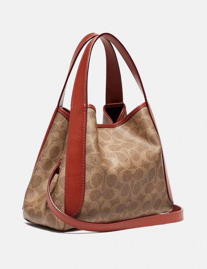 Coach Hadley Hobo 21 in Signature Canvas Brass/Tan Rust Women Collection Signature Alternate View 1