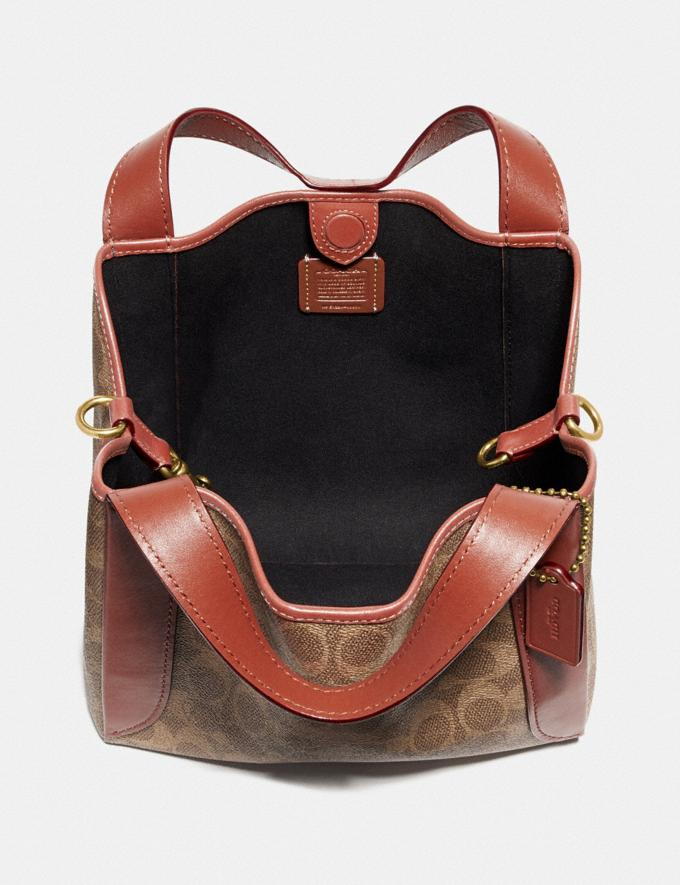 Coach Hadley Hobo 21 in Signature Canvas Brass/Tan Rust Women Collection Signature Alternate View 2