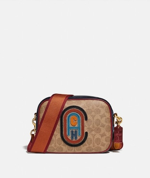 CAMERA BAG IN SIGNATURE CANVAS WITH COACH PATCH