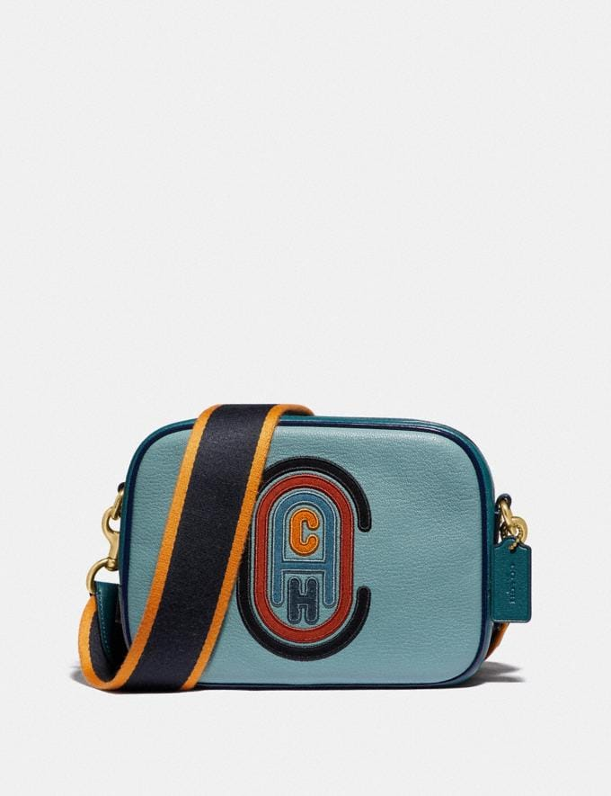 Coach Camera Bag in Colorblock With Coach Patch B4/Marine Multi Women Bags Crossbody Bags