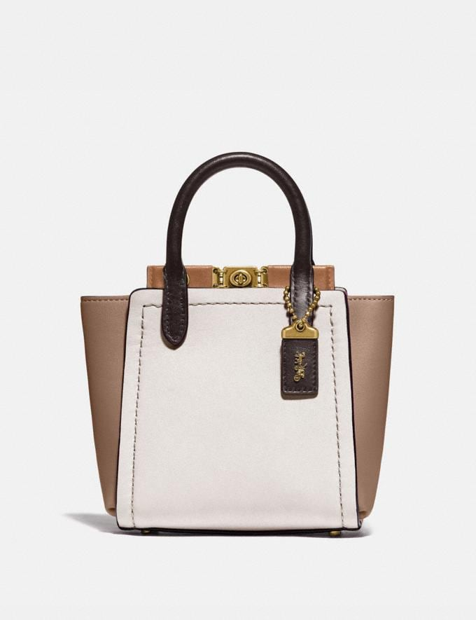 Coach Troupe Tote 16 in Colorblock Brass/Chalk Multi VIP SALE Women's Sale Bags