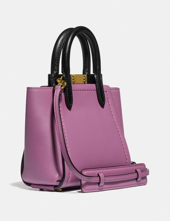 Coach Troupe Tote 16 in Colorblock Brass/Lilac Berry Multi Women Alternate View 1
