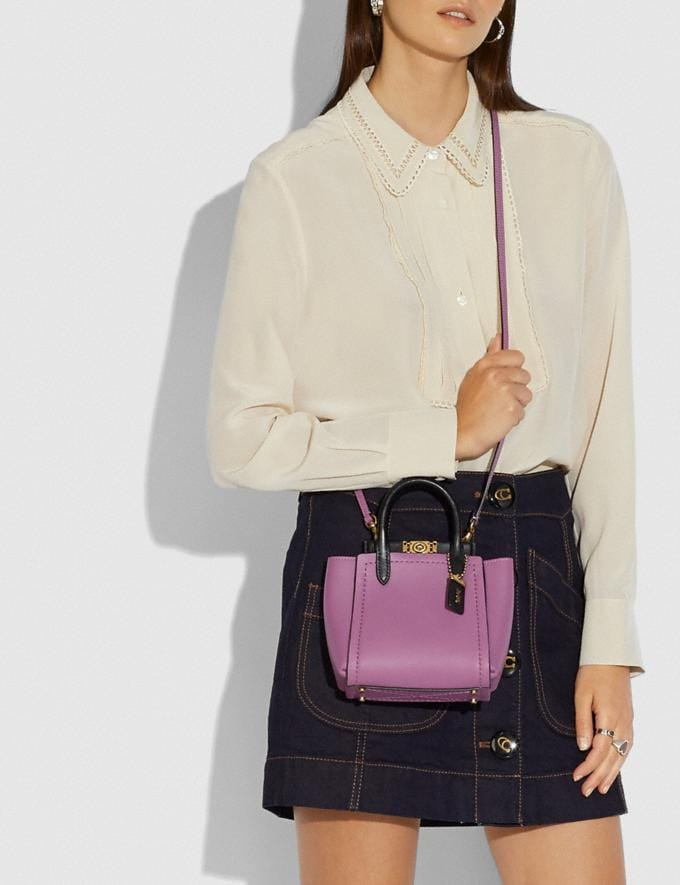 Coach Troupe Tote 16 in Colorblock Brass/Lilac Berry Multi Women Alternate View 3