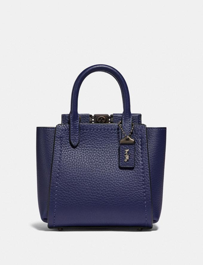 Coach Troupe Tote 16 Pewter/Cadet Women