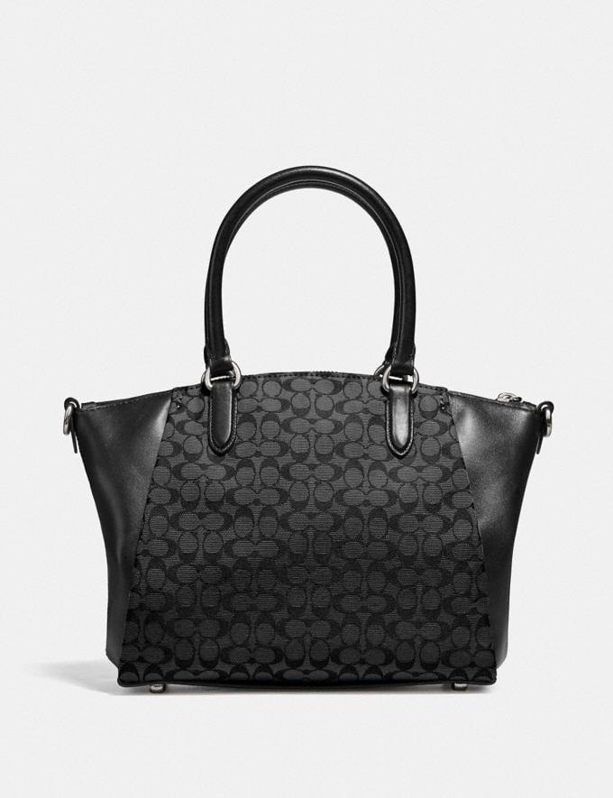 Coach Elise Satchel in Signature Jacquard Silver/Black/Black Women Handbags Satchels & Top Handles Alternate View 2
