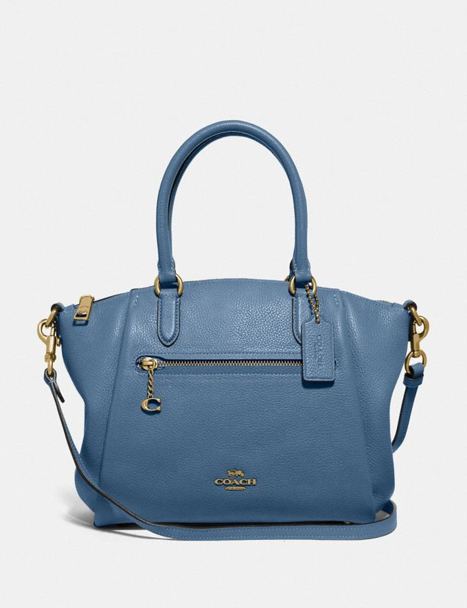Coach Elise Satchel B4/Lake Women Bags Satchels