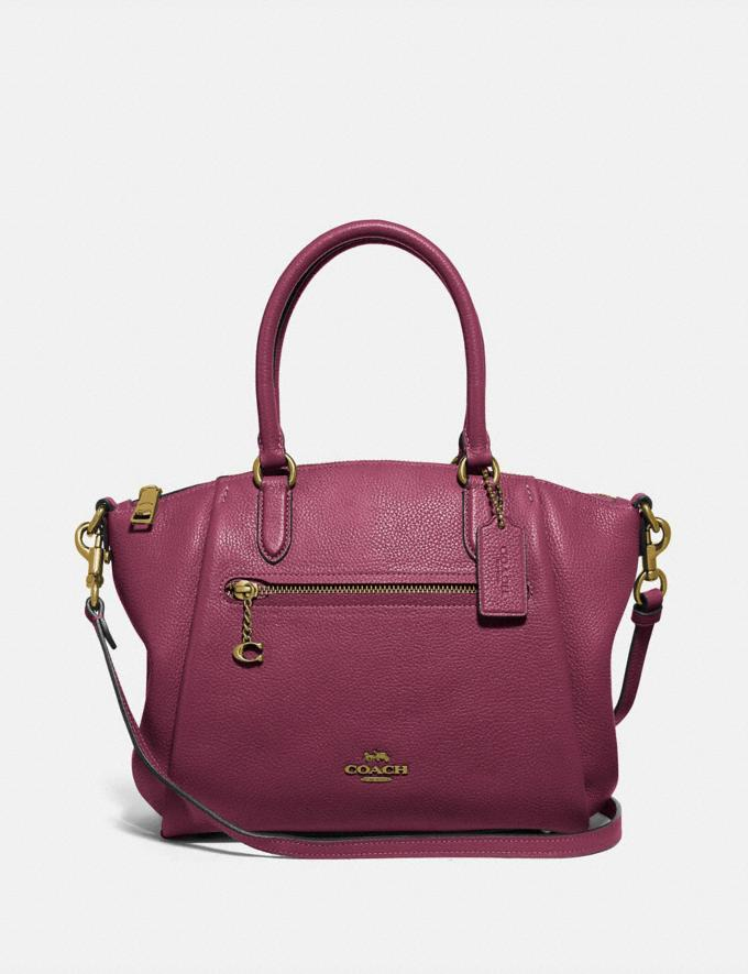 Coach Elise Satchel Gold/Black Cherry New Women's New Arrivals Bags