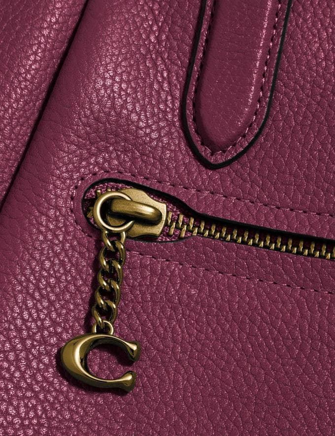 Coach Elise Satchel Gold/Black Cherry New Women's New Arrivals Bags Alternate View 4