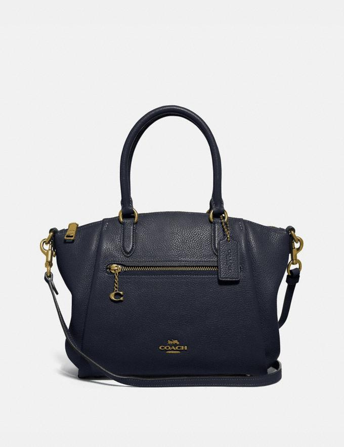 Coach Elise Satchel Gd/Midnight Navy SALE 30% off Select Full-Price Styles Women's