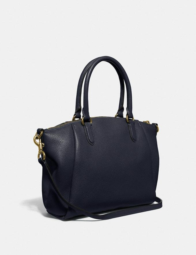Coach Elise Satchel Gd/Midnight Navy SALE 30% off Select Full-Price Styles Women's Alternate View 1
