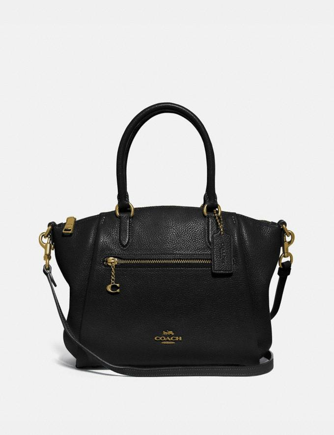 Coach Elise Satchel Gd/Black Women Handbags Satchels & Top Handles