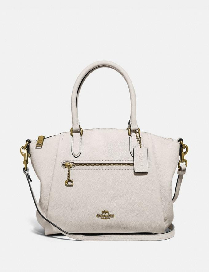 Coach Elise Satchel Gd/Chalk SALE Women's Sale