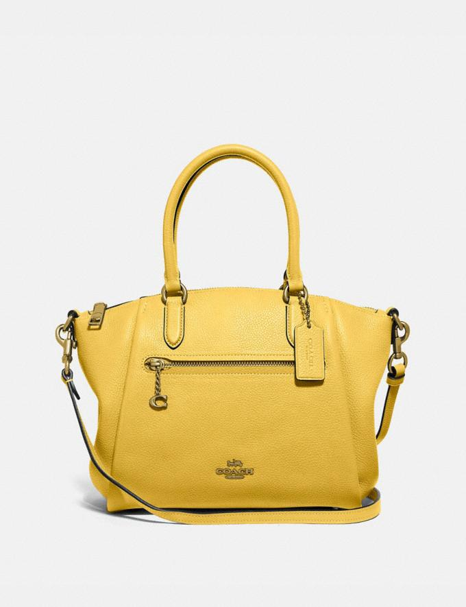 Coach Elise Satchel Gd/Sunlight New Women's New Arrivals
