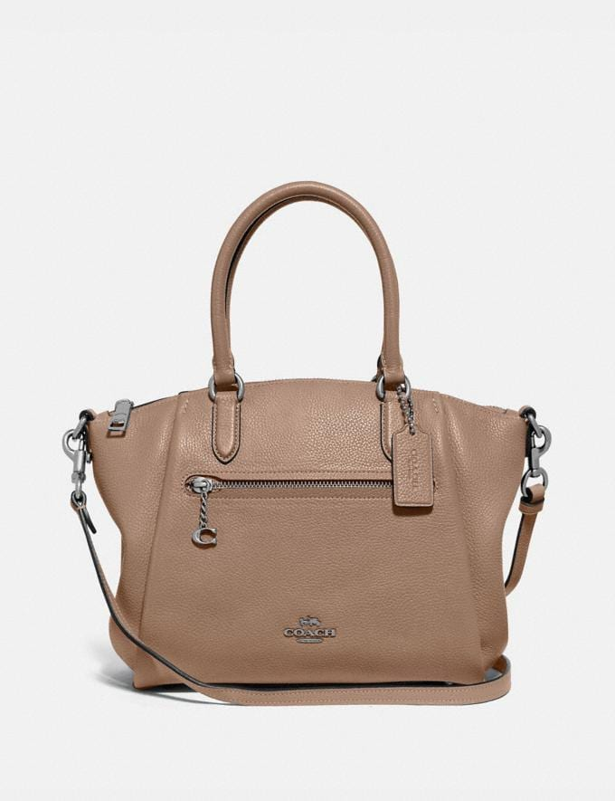 Coach Elise Satchel Lh/Taupe Cyber Monday For Her Cyber Monday Sale