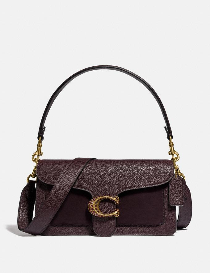 Coach Tabby Shoulder Bag 26 Brass/Oxblood Women Bags Shoulder Bags