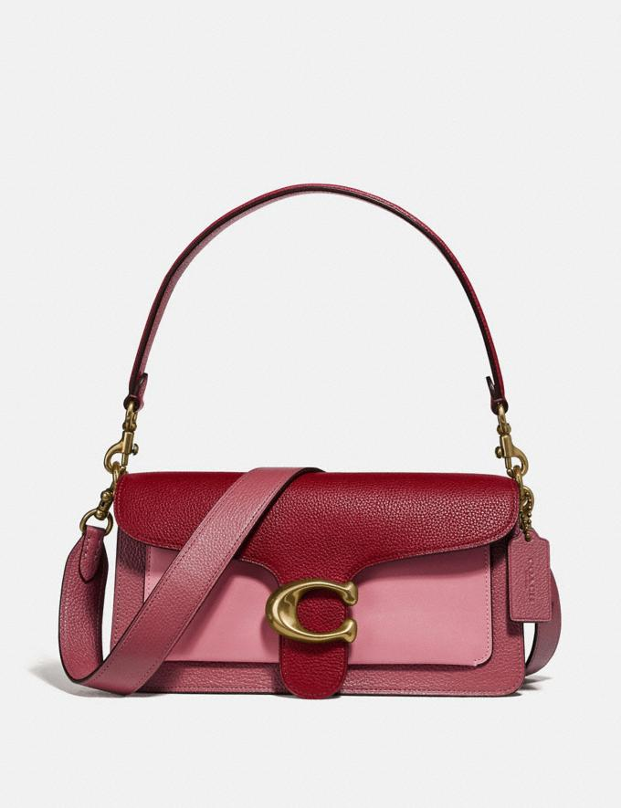 Coach Tabby Shoulder Bag 26 in Colorblock B4/Deep Red Multi Women Bags View All