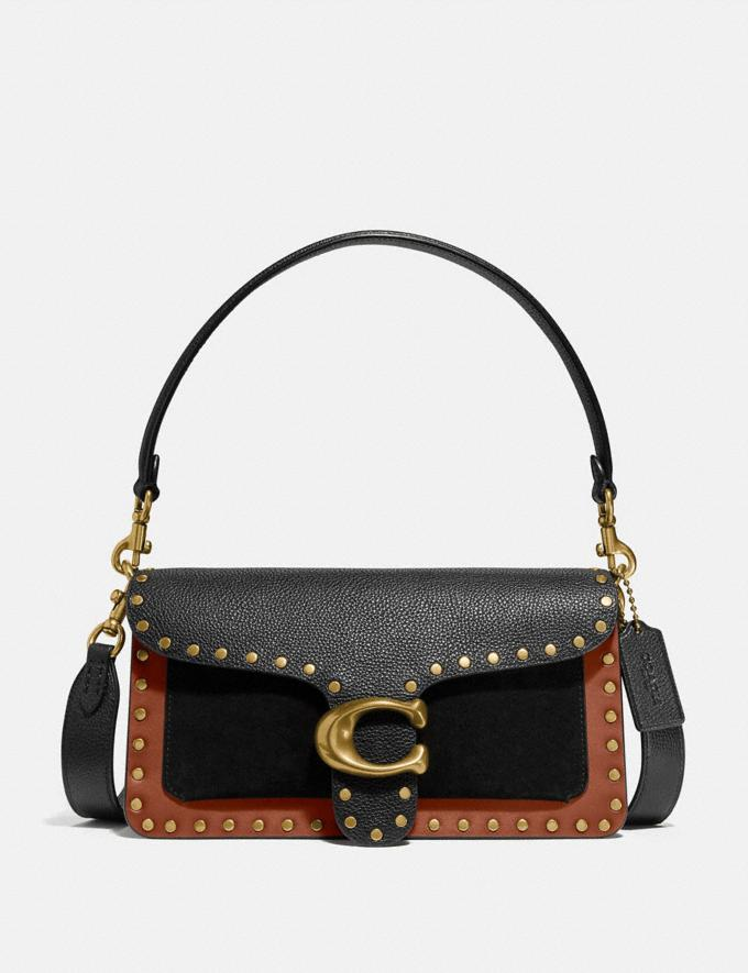Coach Tabby Shoulder Bag 26 With Rivets Brass/Black Multi Gifts For Her Bestsellers
