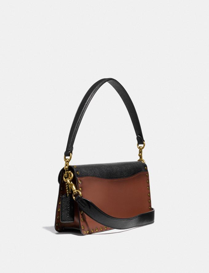 Coach Tabby Shoulder Bag 26 With Rivets Brass/Black Multi Gifts For Her Bestsellers Alternate View 1