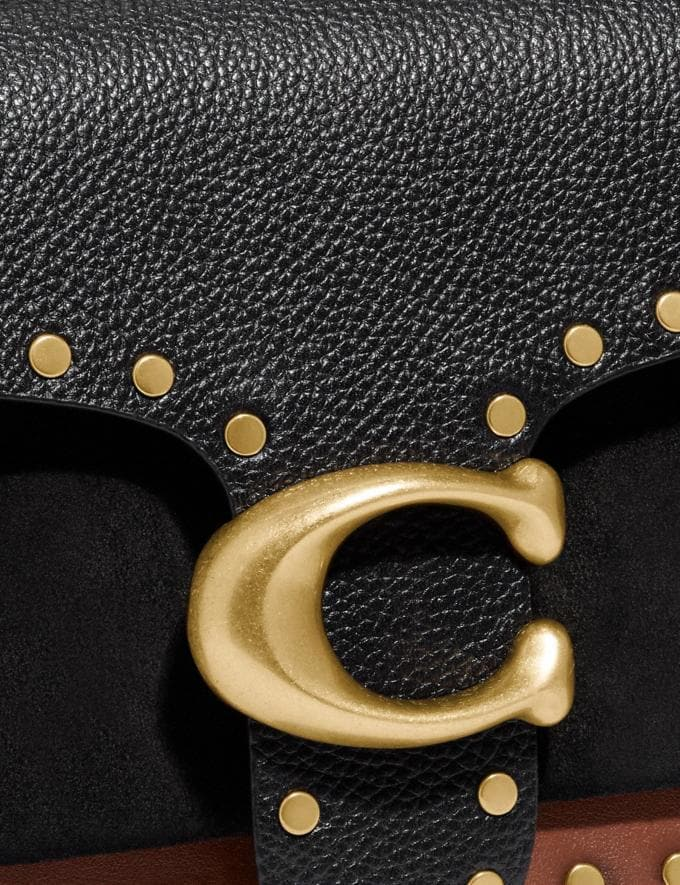 Coach Tabby Shoulder Bag 26 With Rivets Brass/Black Multi Gifts For Her Bestsellers Alternate View 6