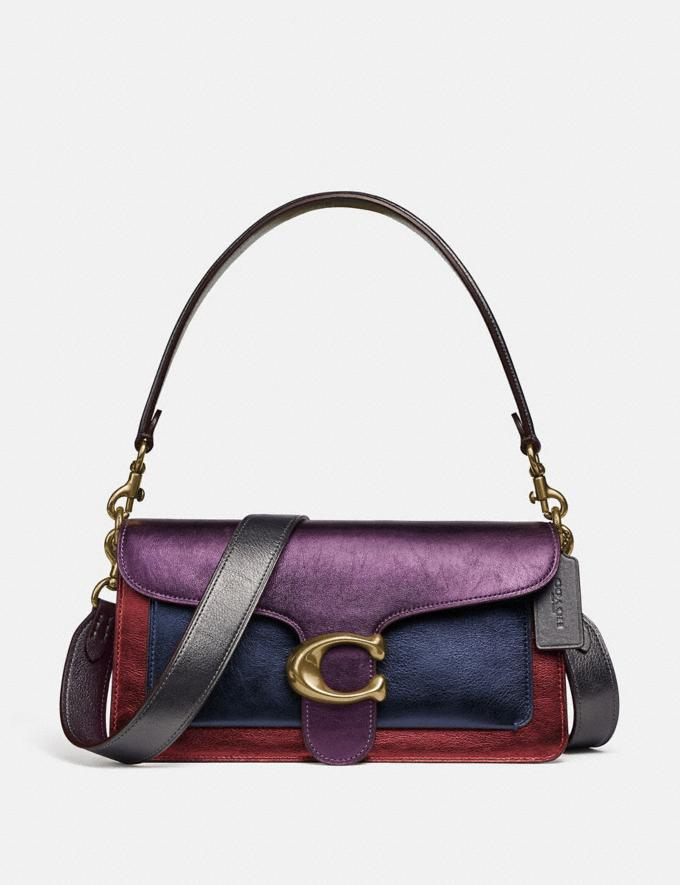 Coach Tabby Shoulder Bag 26 in Colorblock Brass/Multi Women