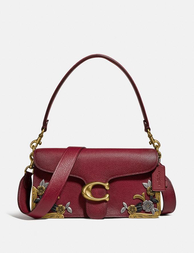 Coach Tabby Shoulder Bag 26 With Tea Rose Brass/Deep Red Women Handbags Shoulder Bags & Hobos