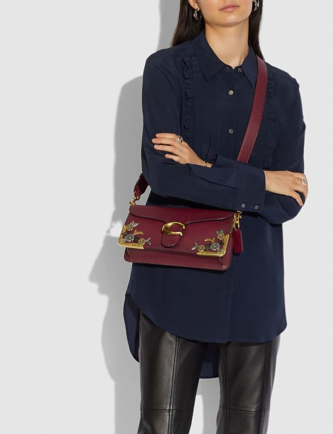 Coach Tabby Shoulder Bag 26 With Tea Rose Brass/Deep Red Women Handbags Shoulder Bags & Hobos Alternate View 4
