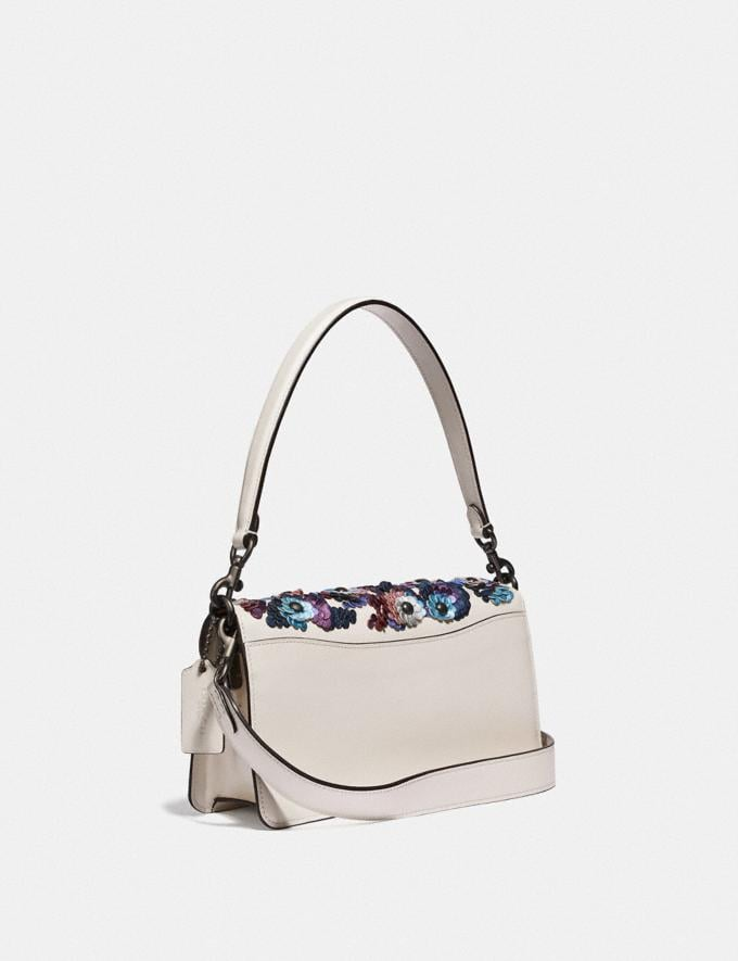 Coach Tabby Shoulder Bag 26 With Leather Sequins Pewter/Chalk New Featured Online-Only Alternate View 1