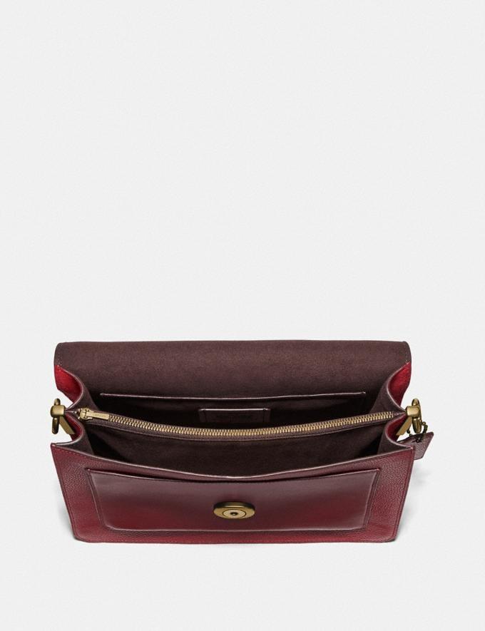 Coach Tabby Shoulder Bag Brass/Deep Red Women Collection Tabby Alternate View 2