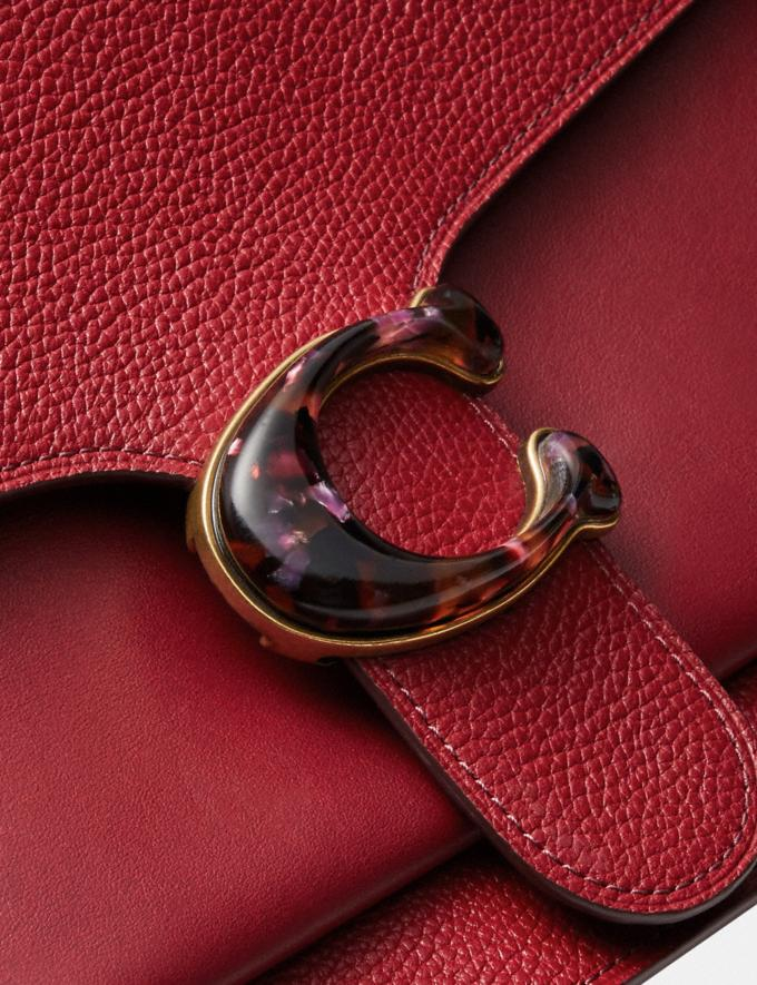 Coach Tabby Shoulder Bag Brass/Deep Red Women Collection Tabby Alternate View 5